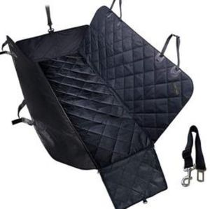BACKSEAT COVER FOR PETS WITH PET SEAT BELT